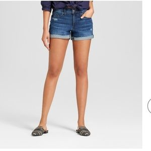 Mossimo Mid-rise denim shorts